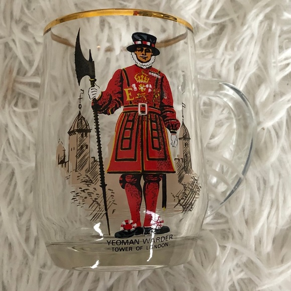 Yeoman Warder London Glass Mug W British Guard